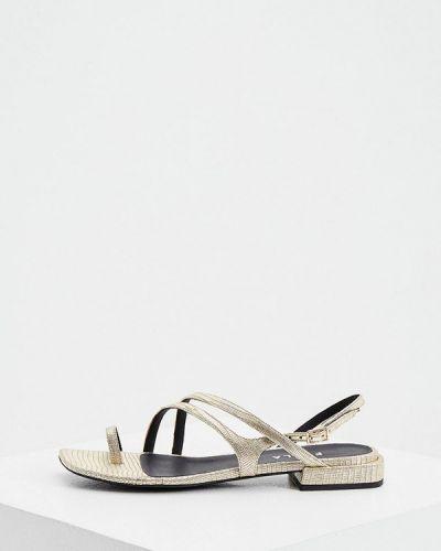 Кожаные сандалии золотые Furla