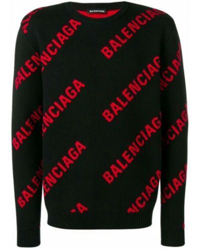Sweter wełniany - czerwony Balenciaga