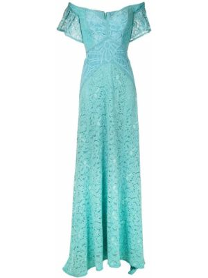 Синее прямое ажурное платье мини на молнии Martha Medeiros