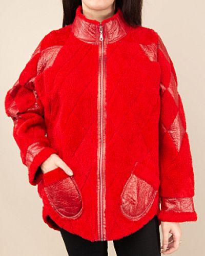 Пальто из овчины - красное Panofics