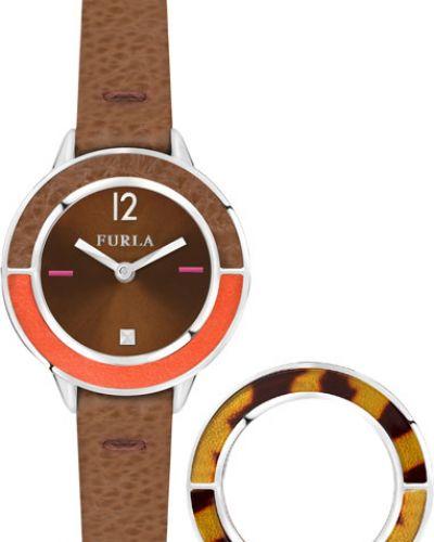 Водонепроницаемые часы на кожаном ремешке кварцевые Furla