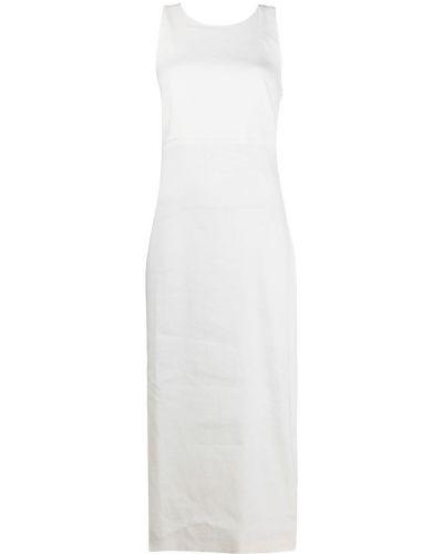 Белое платье миди трапеция без рукавов Antonelli