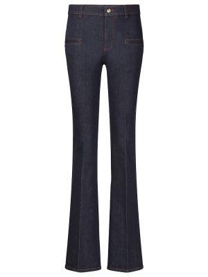 Хлопковые расклешенные повседневные синие джинсы Altuzarra