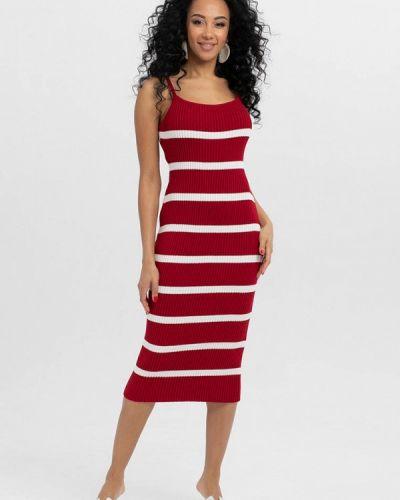 Прямое красное платье А-силуэта Lmp