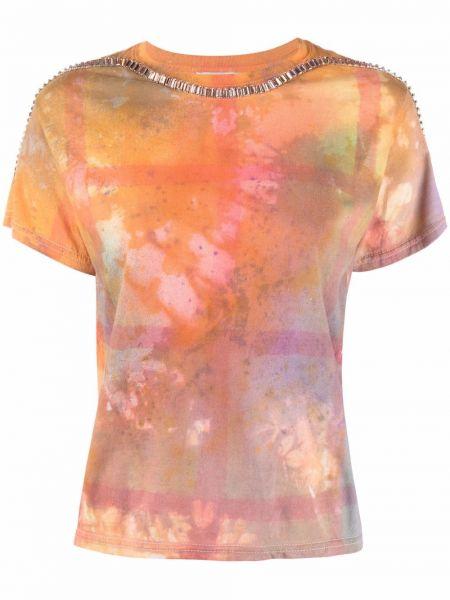 T-shirt z printem - pomarańczowa Collina Strada