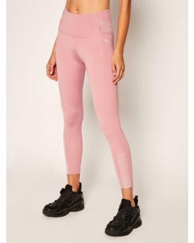 Różowe legginsy Puma