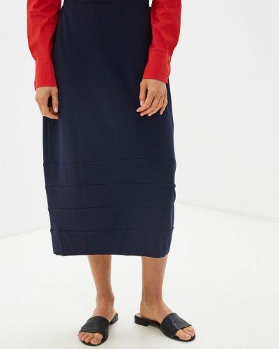Синяя юбка карандаш с рукавом 3/4 Massimiliano Bini