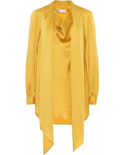 Желтая блузка Oscar De La Renta