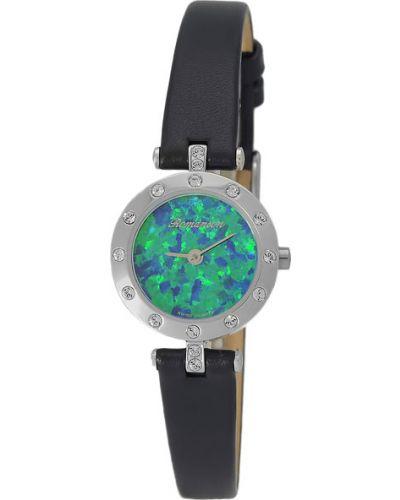Водонепроницаемые часы на кожаном ремешке кварцевые Romanson