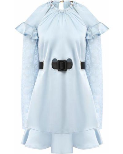 Платье мини с поясом с оборками Self-portrait