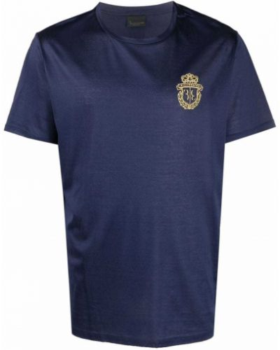Синяя футболка с вышивкой Billionaire