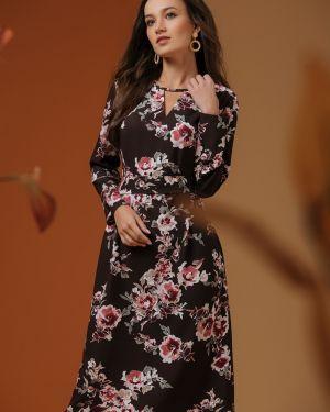 Повседневное платье на пуговицах с V-образным вырезом 1001 Dress