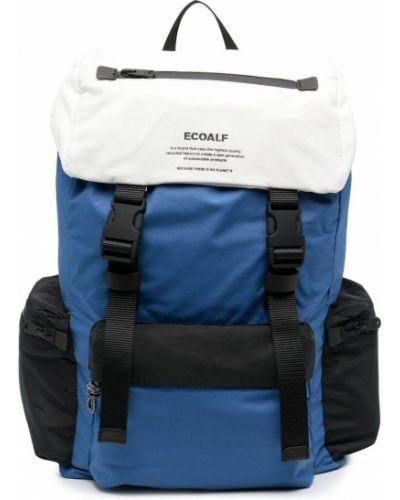 Czarny plecak z nylonu z printem Ecoalf
