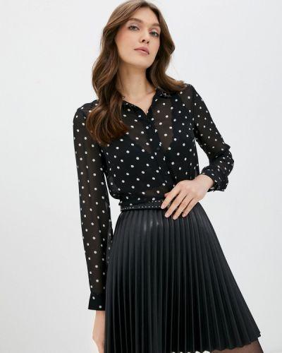 С рукавами черная блузка Guess Jeans