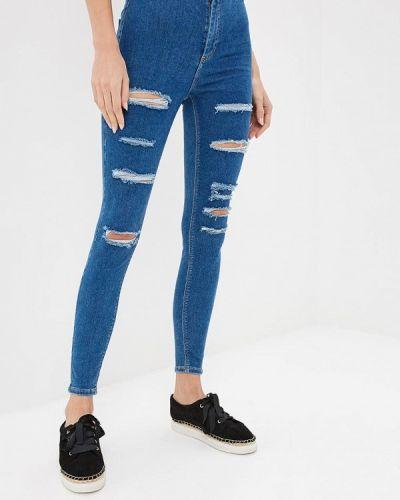 Синие джинсы-скинни Topshop