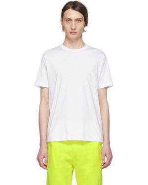 С рукавами белая рубашка с короткими рукавами с воротником с аппликациями A_plan_application