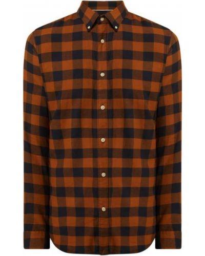 Koszula slim z długimi rękawami - brązowa Selected Homme