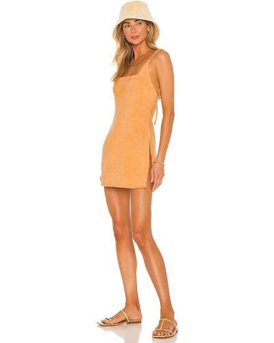 Pomarańczowa sukienka bawełniana Atoir