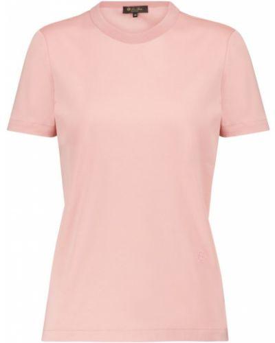 Ватная хлопковая розовая футболка Loro Piana
