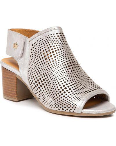 Sandały srebrne Badura