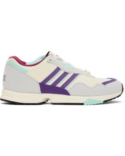 Белые кроссовки на каблуке на шнурках Adidas Originals