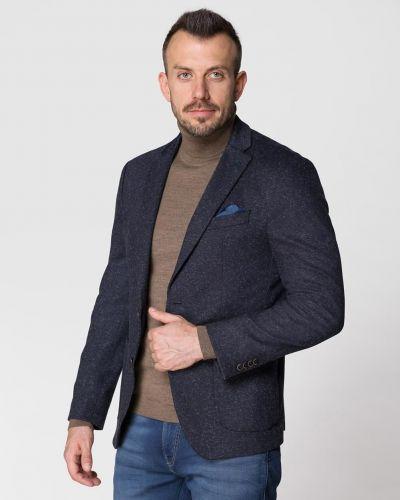 Шерстяной пиджак - синий Pierre Cardin