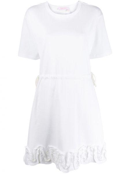 Платье мини футболка с оборками See By Chloe