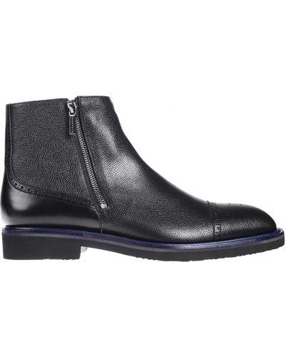 Кожаные ботинки - черные Moreschi