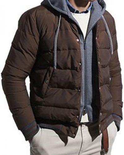 Шерстяная коричневая куртка Eleventy