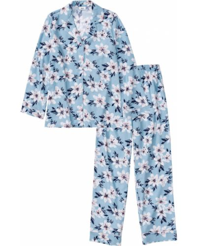 Пижамная фланелевая пижама на пуговицах Bonprix