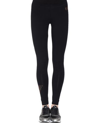 Хлопковые спортивные брюки - черные Ea7 Emporio Armani
