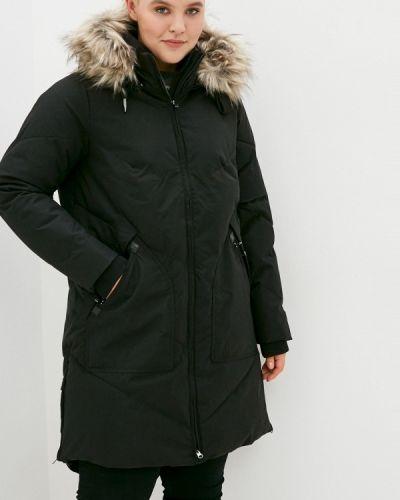 Теплая черная зимняя куртка Zizzi