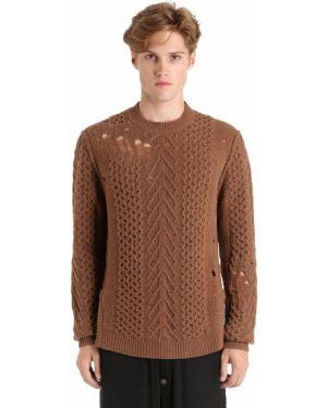 Brązowy sweter wełniany oversize Damir Doma