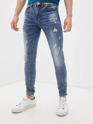 Синие зимние зауженные джинсы Terance Kole