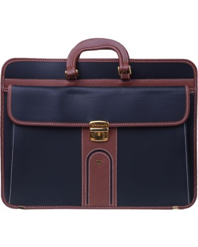 Кожаный портфель - черный Valigeria Roncato
