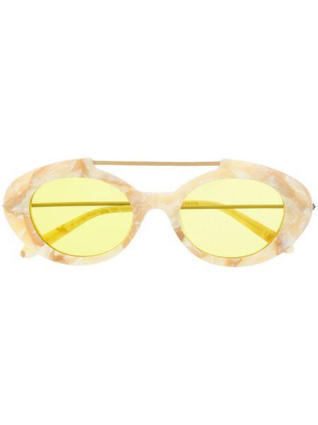 Прямые солнцезащитные очки металлические хаки Han Kjøbenhavn