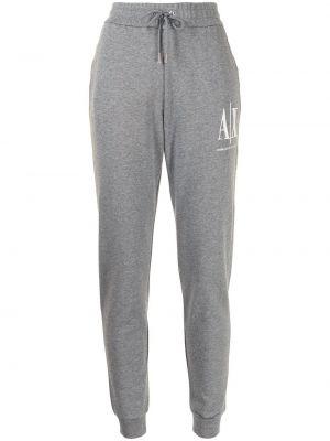 Хлопковые спортивные брюки - серые Armani Exchange