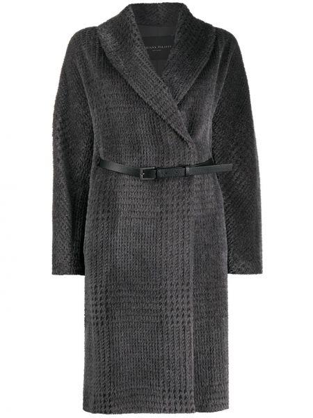 Длинное пальто оверсайз в клетку из альпаки Fabiana Filippi