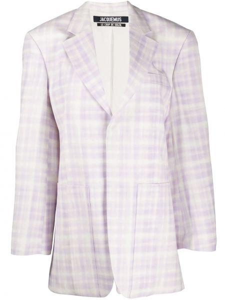 Белый пиджак оверсайз с карманами Jacquemus