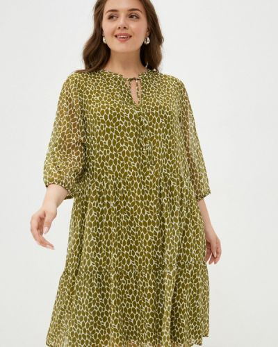 Повседневное зеленое платье Samoon By Gerry Weber