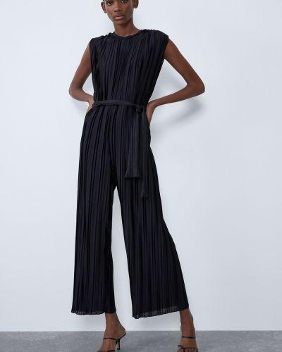 Укороченный черный комбинезон Zara