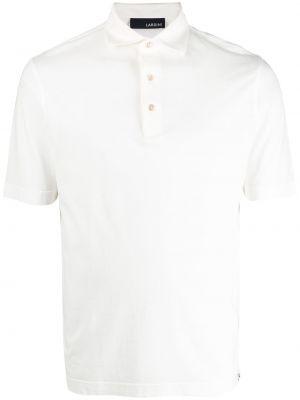 Biała koszula krótki rękaw bawełniana Lardini
