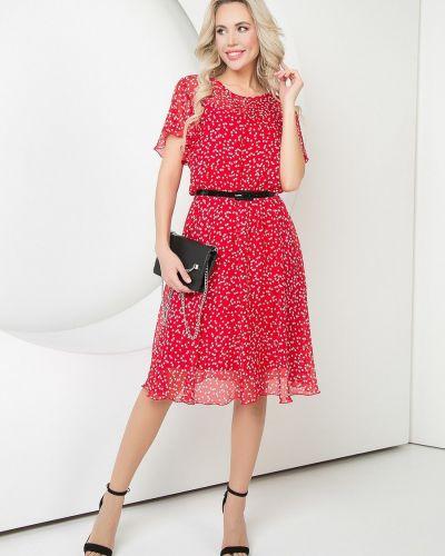 С ремешком трикотажное платье-футляр с вырезом Diolche