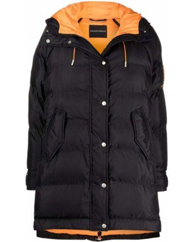 Черное пальто длинное Ermanno Scervino