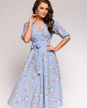 Коктейльное платье с запахом с поясом 1001 Dress