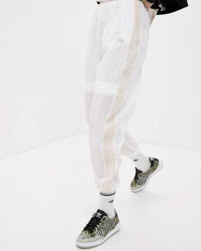 Белые спортивные брюки Adidas Originals