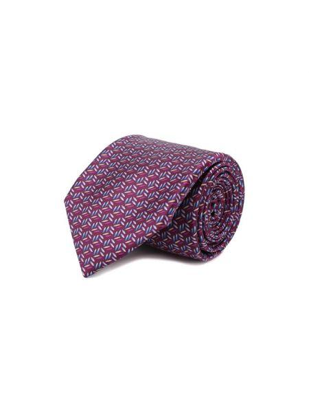 Галстук фиолетовый деловой Zilli