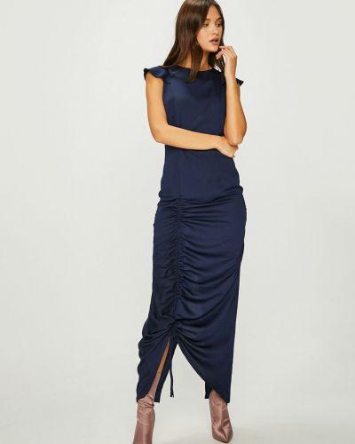 Платье макси однотонное со складками Answear