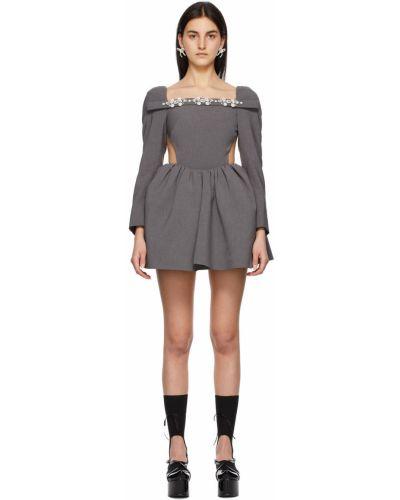 Czarna sukienka długa srebrna Shushu/tong