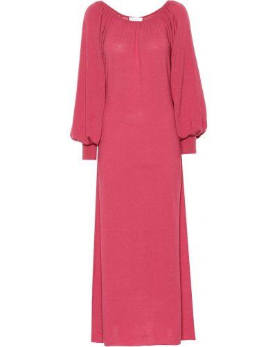 Розовое платье макси Ryan Roche